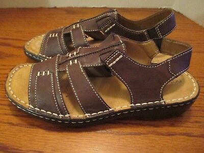 408dbc55b45 WOMEN S NATURAL SOUL by naturalizer s Size 8.5M Leather Sandals ...