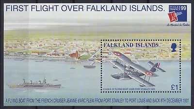 Falkland-Inseln Block 19 (751) **, PHILEXFRANCE - Flugboote / Airboats (18 ME)