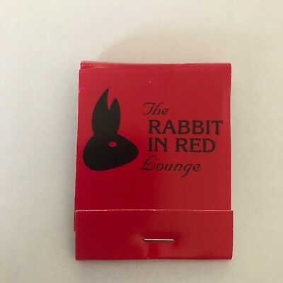 The RABBIT IN RED Lounge MATCHBOOK matches HALLOWEEN prop replica Michael Myers