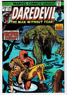 Daredevil #114 9.2 Black Widow Appearance Higher Grade 1974 Ow/w Pages