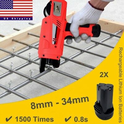8mm-34mm Automatic Handheld Rebar Tier Tying Machine Reinforcing Steel Strapping