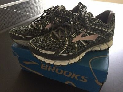 5f249a8b1f9 Brooks Women s Adrenaline GTS 17 Metallic Charcoal Black Rose Gold 8.5B
