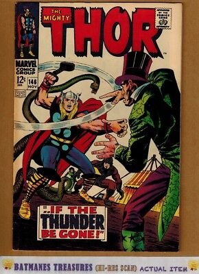The Mighty Thor #146 (8.5) VF+ Inhumans Origin 1967 Silver Age By Stan Lee