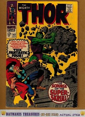 The Mighty Thor #142 (8.5) VF+ 1967 Silver Age By Stan Lee & Jack Kirby
