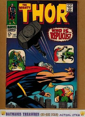The Mighty Thor #141 (8.0-8.5) VF+ 1967 Silver Age By Stan Lee & Jack Kirby