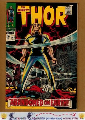 The Mighty Thor #145 (7.5) VF- 1967 Silver Age By Stan Lee & Jack Kirby
