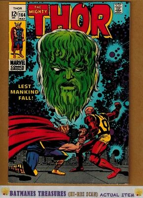 The Mighty Thor #164 (7.5) VF- 1st Adam Warlock Cameo App 1969 Silver Age