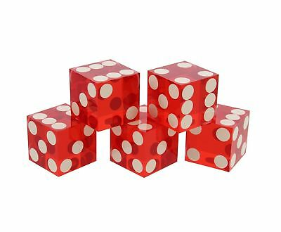 Get Out! Precision Casino Dice 6-Sided 19mm Game Playing Dice, Translucent Red,