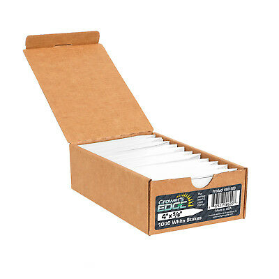 Grower's Edge® Plant Stake Labels White - 1000/Box SAVE $$ W/ BAY HYDRO $$