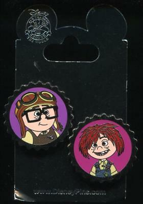 Carl and Ellie Bottle Caps 2 Pin Set Disney Pin 106642