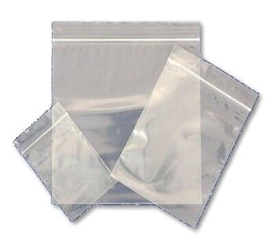 Grip Seal Bags Resealable Thick Grip Poly Plastic Clear Zip Lock Small Large