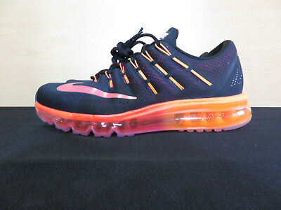 Nike Air Max 2016 Orange And Black Mens Athletic Shoes 806771-006 Size 9.5 New