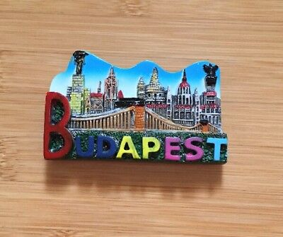 TOURIST SOUVENIR Resin 3D FRIDGE MAGNET ---- Hungary Budapest LOVE