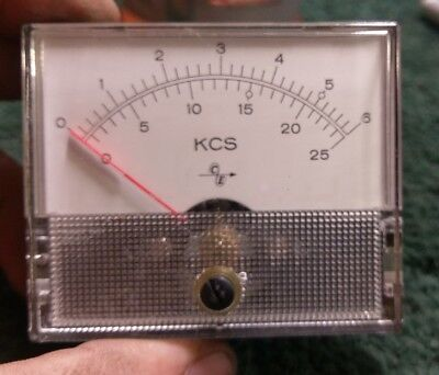 KCS 100 uA movement panel meter
