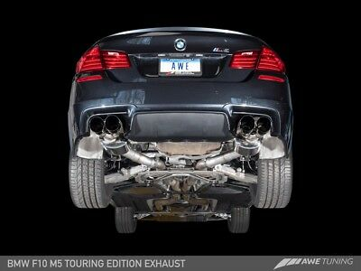 AWE Axle Back Exhaust Chrome Silver Tips Fits  BMW F10 M5 Touring Edition