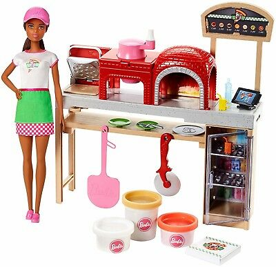 Kids Barbie Doll Pizza Chef Play Set Food Cook Pretend Gift Girl Toy New