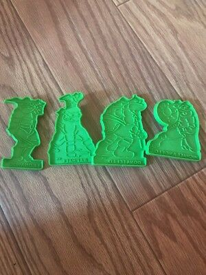 Set of 4 Vtg Plastic Wilton Cookie Cutters TEENAGE MUTANT NINJA TURTLES TMNT A