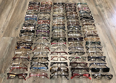 Lot Of 100 Pairs Of Eyewear Frame Glasses Made In Italy New And Authentic 100%