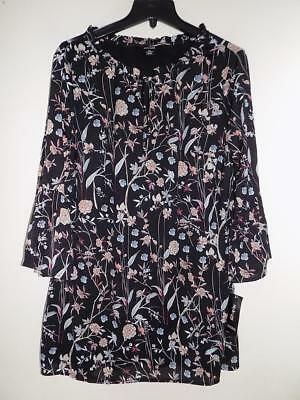 07f2bf2f2d116 Style co. Women s Plus Size Floral Printed Peasant Top NWT Size 0X WTA6644