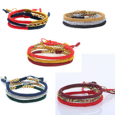 Women Men Lucky Handmade Buddhist Knots Rope Bracelet Tibetan Best Gift Jewelry