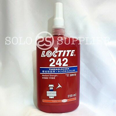 Loctite 242 Medium Strength Threadlocker 250ml - EXP 2020 - Free Priority