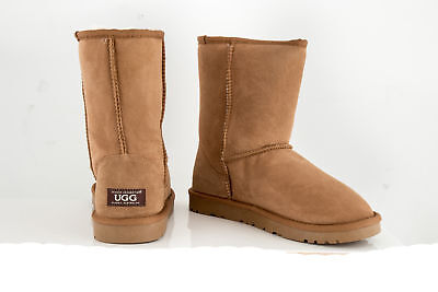 OZWEAR Connection Unisex Classic 3/4 Ugg Boot - Chestnut EU 46 (T423)