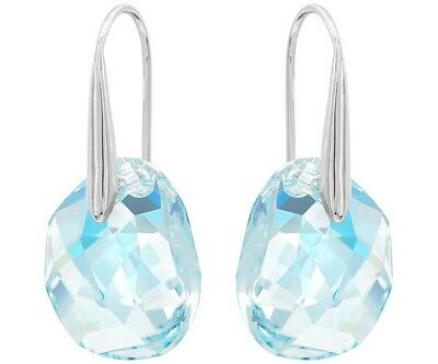 d777b56cc Authentic Swarovski Galet Azore Blue Crystal Pierced Earrings-reg.price $79