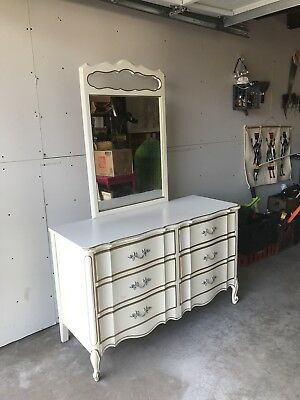 Dixie Vanity Dresser French Provincial Shabby Chic Authentic Antique
