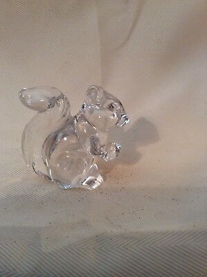 """Crystal Glass Squirrel Holding Acorn Nut 3"""""""