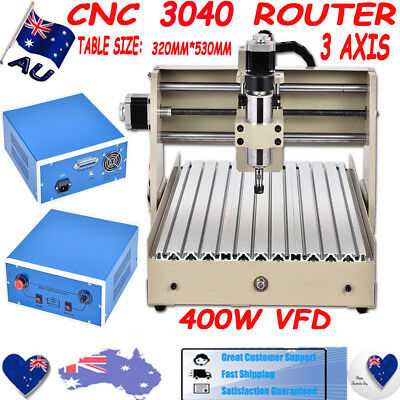 3 Axis CNC 3040 Router Engraver Engraving Machine Drilling Carving Tool 3DCutter