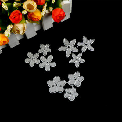 3X Small Flower Design Metal Cutting Die For DIY Scrapbooking Album Paper Card H
