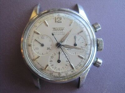 33c1abdb2 Vintage Swiss Tissot Chronograph Mens Watch Wristwatch~As Is Parts Or Repair