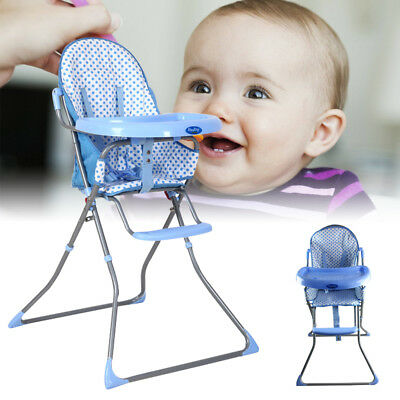 Baby Style Foldable Recline Highchair Baby Childs Kids Feeding High Chair Seat
