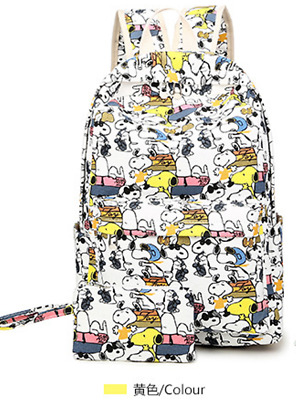 """US Seller 18"""" Snoopy Unisex Anime Fashion School Backpack Special #beibao-39"""