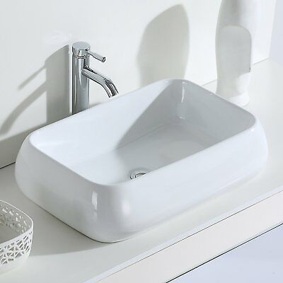 ERIDANUS LAZA Bathroom Wash Basin Ceramic Counter Top Mounted Sink Bowl 60*40cm