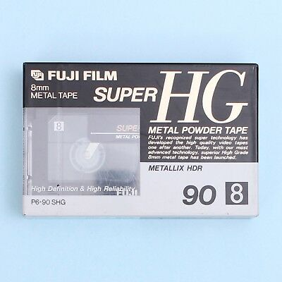 FUJIFILM Metal Tape Super HG Metallix HDR P6-90 Video8 8mm Video Cassette *NEW*