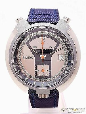 Serviced BULOVA BULLHEAD Parking Meter Chronograph Automatic Cal 12 14EFAD Watch
