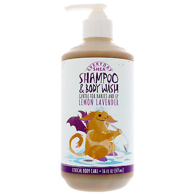 Shampoo & Body Wash, Gentle for Babies And Up, Lemon Lavender, 16 fl oz (475 ml)