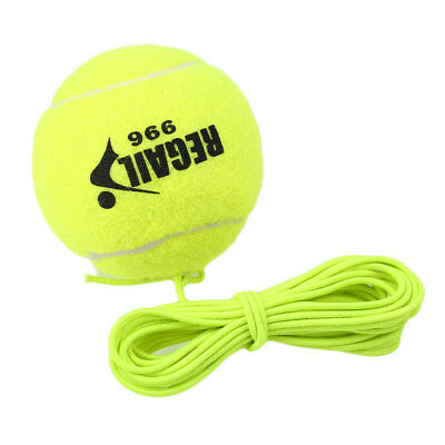 1Pc Tennis Ball With String Drill Trainer Replacement Rubber Woolen Balls