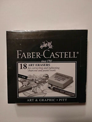 FABER-CASTELL Kneadable Art Eraser Correcting Charcoal/Pencils - 18 Pack 127020