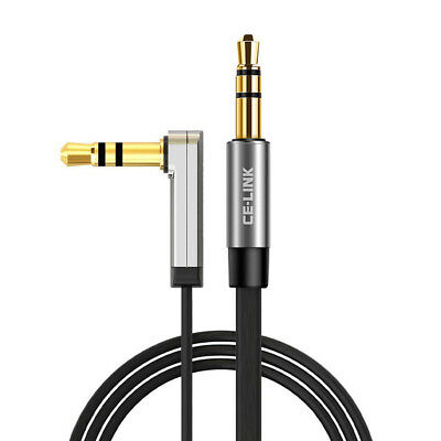 Stereo Audio Aux Flat Cable/Cord 3.5mm Jack Input Male to Male Auxiliary Lead