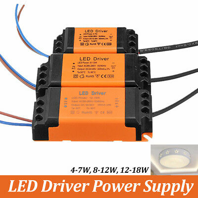1-10pcs Dimmable LED Driver Transformer Power Supply 4-7W 8-12W 12-18W 18-24W