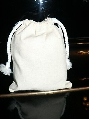 Calico bags with Drawstring ( bulk)1,5,10,15,20,30,50 (H 15.5 cm x W 12.5 cm)