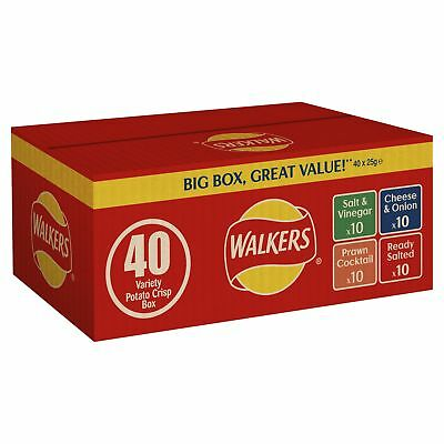 (14,99€/1kg) Walkers Crisps Variety Box 40 / 40 x 25g