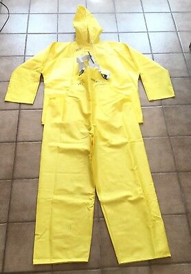 Tingley Rain Gear Overalls and Jacket XL Unworn - w/ some writing.