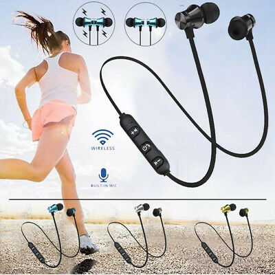 Sports In-Ear Wireless Earphones Bluetooth 4.2 Stereo Headphones Headsets W/Mic