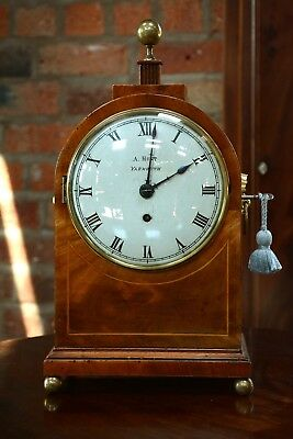 Antique Mahogany Single Fusee Timepiece  A  Hunt Yarmouth Victorian Clock