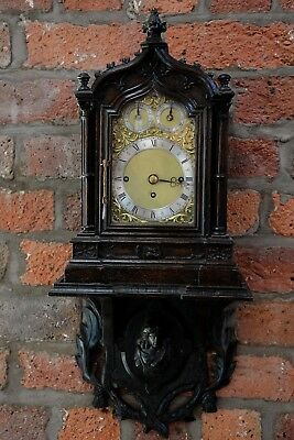 Antique Triple Fusee Quarter Westminster Chiming Bracket Clock Maple & Co London