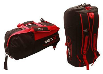 Met-X Premium Gym Bags Fitness Training Backpack Ruck Sack Red Large Travel Bag