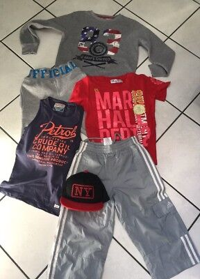 Lot Garcon 10 Ans  Short Adidas Bas  Us Marshall  Sweat Camps  Petrol+Casquette